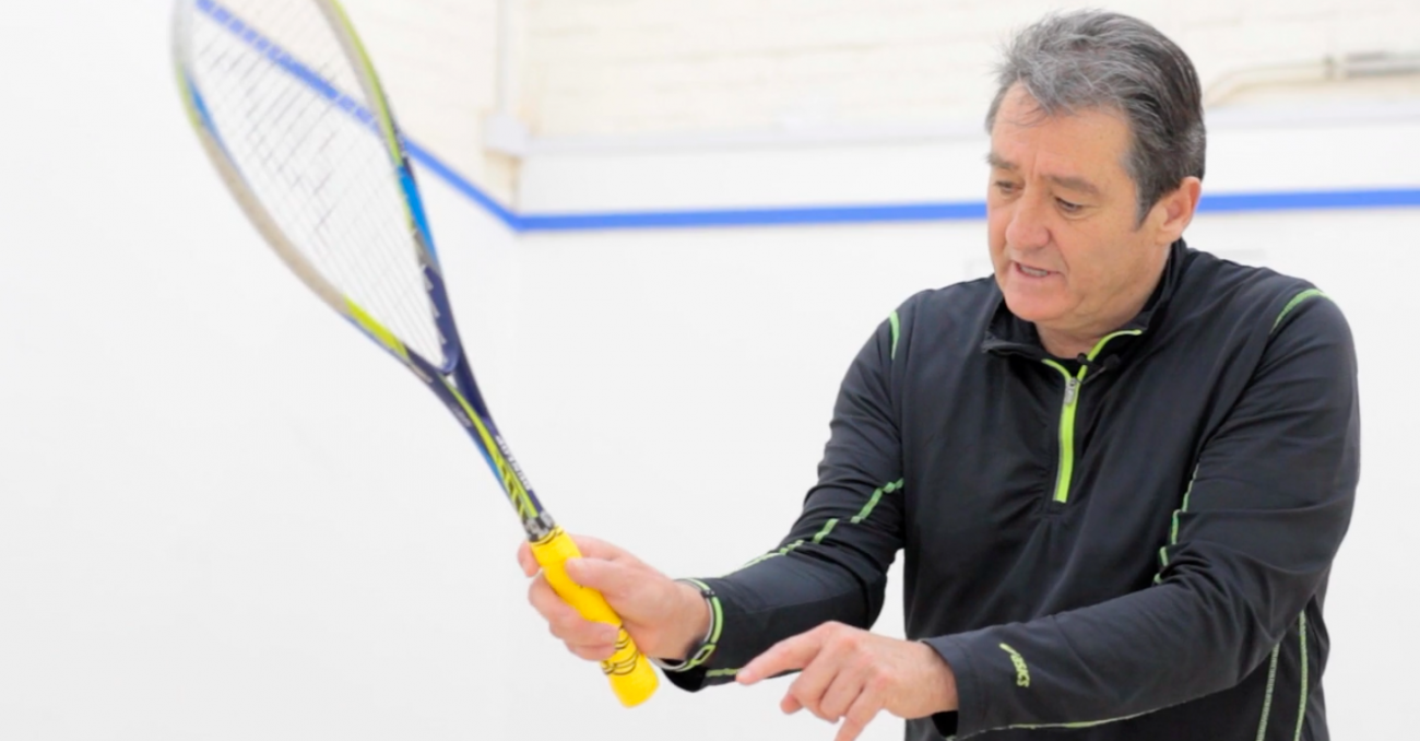 The squash grip with David Pearson