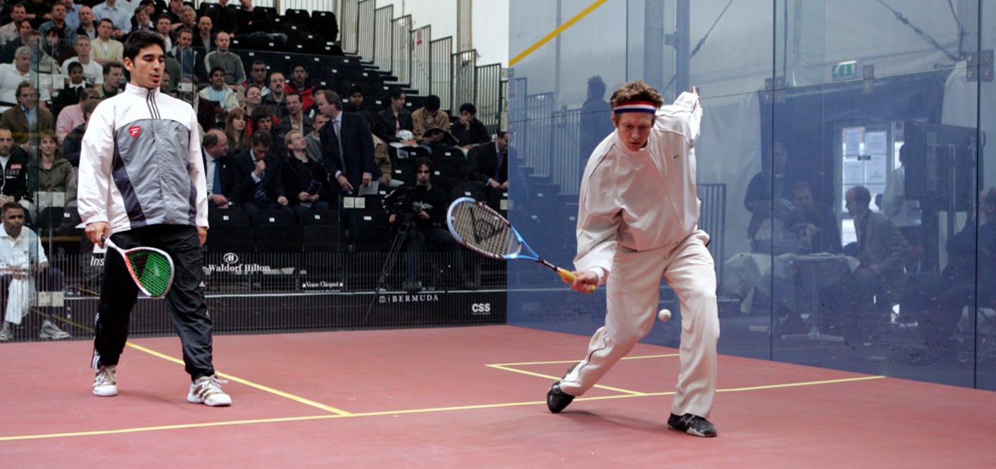 Getting the knack of the knock up for squash!