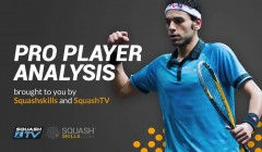 Pro player analysis: Amr Shabana's forehand options