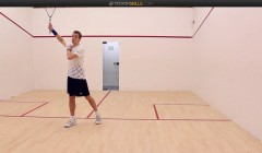 Nick Matthew: Backhand volley drop