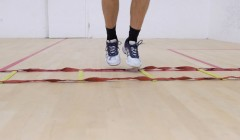Ladder Drills: Lateral in/out bounce
