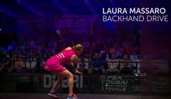 Laura Massaro: Backhand drive