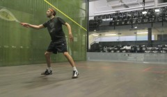 Straight volley, cross court volley test