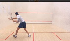 Thierry Lincou's straight, cross court drill