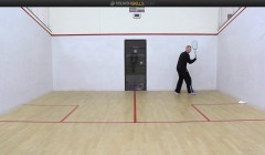Backhand drives with target