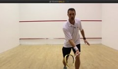 David Palmer's volley drop practice with cross court option