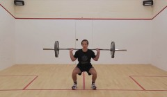 Fitness test: 1 minute squat test (strength)