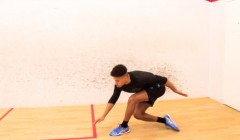 Lateral push & reach drill