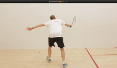 Nick Matthew's forehand drop