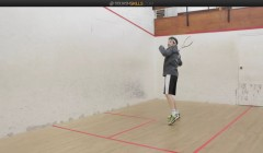 High forehand volley short