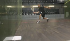 Backhand drop shot test