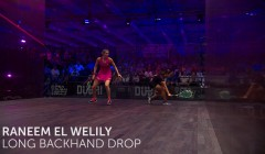 Raneem El Welily: Long backhand drop