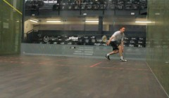 Forehand drives off the back wall test