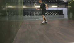 Backhand bounce & move test