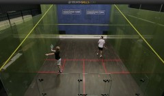 Backhand cross court nick pairs routine