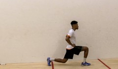 Static lunge reps and hold