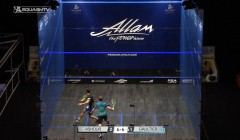 Ramy Ashour's cross court nicks