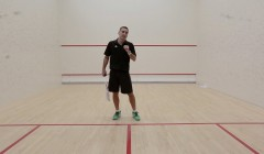 Forehand drop shot test: Thierry Lincou