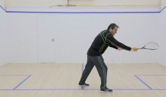 Contact point on the backhand drive