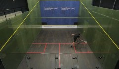Backhand above/below volley test