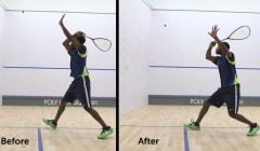 Super slow mo: Backhand pace and accuracy