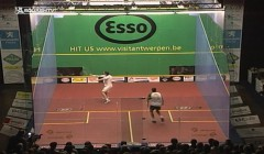 Backhand cross court volley lob