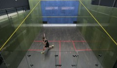 Backhand service box, middle backhand