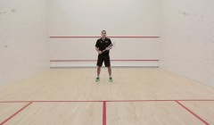 Cross court volley test: Thierry Lincou
