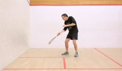 Technique of the forehand two wall boast