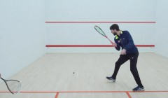 Backhand front corner demo & analysis