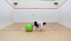 Stability ball roll-in