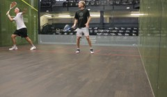 Cross court volleys