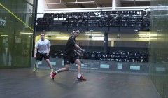 Rotating drives with option to cross court nick and lob