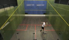 Forehand service box drives test
