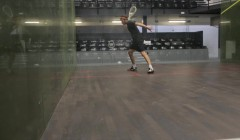 Backhand above/below bounce test
