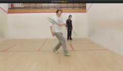 Forehand drop drive