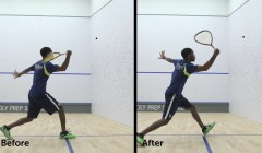 Super slow mo: Forehand pace and accuracy