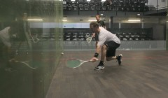 Drop feed for straight drive, straight drop or cross court drop