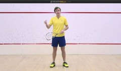 Cross court exercises: straight drive then boast