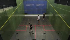 Hitting routine of boast, drop, cross court
