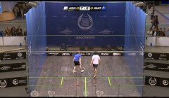 Ramy Ashour and Mohammed el Shorbagy's cross court nicks