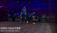 Gregory Gaultier: Backhand kill