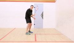 Technique of the backhand two wall boast