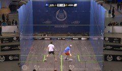 Backhand volley high flick