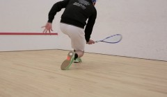 Forehand back foot slide
