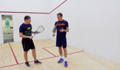 Backhand volley drop coaching