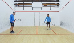 The backhand lob serve