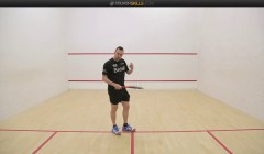 Forehand volley drop practices