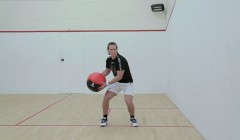 Medicine ball standing side slam