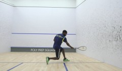 Forehand drive from mid court